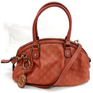 Auth Gucci Guccissima Pink Leather #3360G20